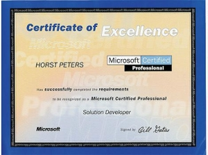 Microsoft Certified Professional Solution Developer